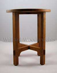 solid cherry wood end tables arts and crafts inspired end table solid cherry 18 round x 21h