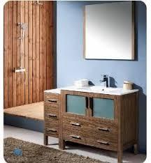 Modern Walnut Bathroom Vanity by Fresca Torino 48 Modern Bathroom Vanity With One Side Walnut
