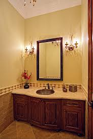 Dog Crate With Bathroom by Built In Dog Crate Powder Room Traditional With Arabesque Bronze