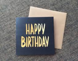 black birthday card etsy