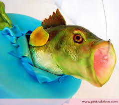 fish cake toppers custom cakes for bar mitzvahs baby showers birthdays pink