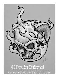 smokey skull by hatefueled on deviantart
