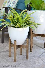 White Pedestal Flower Stand West Elm Inspired Wooden Plant Stands