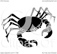 Astrology Sign The Cancer Astrology Sign Of The Zodiac The Crab Clipart