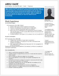 Detail Oriented Resume Accounting Manager Resume Contents Layouts U0026 Templates Resume