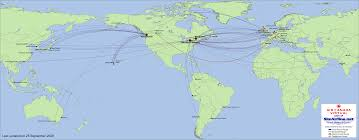 Alaska Air Route Map by Simairline Net Routes