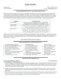 Resume Format Sales And Marketing Sales Account Manager Resume Sample Sales Account Manager Resume