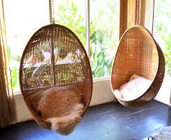 bedroom beauteous rattan hanging chairs and black cushions