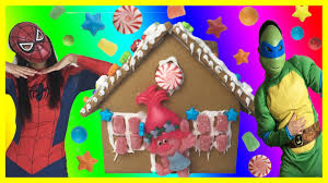gingerbread house trolls diy christmas sugar cookie house kit