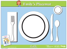 table setting placemat printable placemat for learning how to set the table the emily