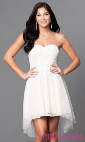 lace high low dress with removable straps promgirl