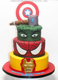 hulk avengers iron man thor spiderman superhero birthday cake