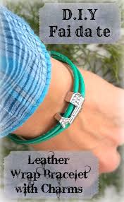 leather wrap bracelet with charm images 23 diy leather wrap bracelet patterns guide patterns jpg