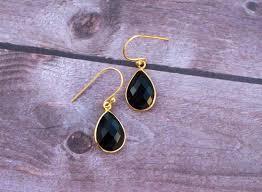 onyx earrings black onyx earrings 925 sterling silver drop earrings black