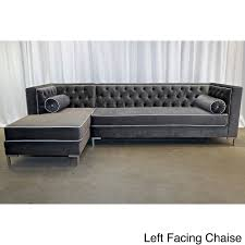 Tufted Sectional Sofa by Decenni Custom Furniture 8 Foot Tobias Sectional Sofa Overstock
