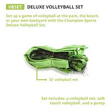 amazon com champion sports backyard u0026 beach volleyball outdoor