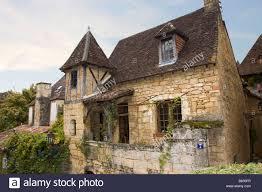 old cottage house perigord style twilight sarlat dordogne france