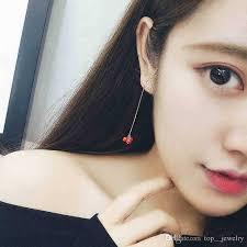 korean earings 2018 the trend of bean earrings earrings korean temperament