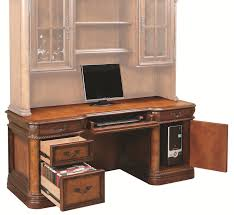 computer desk with cpu storage traditionally styled double pedestal kneehole credenza with locking