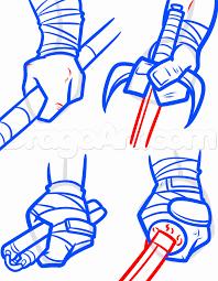 draw teenage mutant ninja turtles 2014 step step drawing