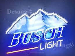 New Busch Light Mountain Neon Sign 24 X20 With Hd Vivid Printing