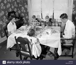 Dining Room Table Clipart Black And White Family Dinner 1950 U0027s Black And White Stock Photos U0026 Images Alamy
