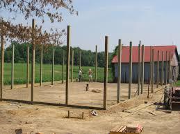 Setting Pole Barn Posts Calvin U0027s Pole Barn