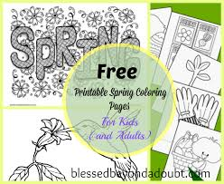 20 free printable spring coloring sheets for kids and adults