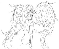 drawn wings sketched pencil and in color drawn wings sketched