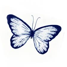 lazy duo blue butterfly temporary tattoos hk 刺青設計紋身