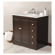 Small Bathroom Vanity With Drawers Elegant Design Ideas Using Round Brown Mirrors And Round White