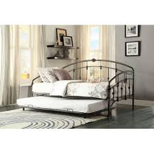 homelegance ruby metal daybed with trundle in rustic beyond stores