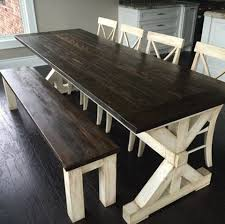 country kitchen table with bench best 25 farmhouse kitchen tables ideas on pinterest diy regarding