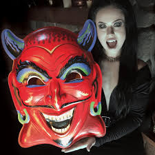 devil mask for halloween fun house devil ghoulsville mask retro a go go