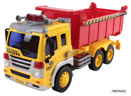 dump truck memtes friction powered dump truck toy with lights and sound for kids