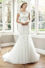 vintage floor length cap sleeves lace mermaid wedding dress