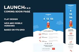 launch pad coming soon psd template website templates creative