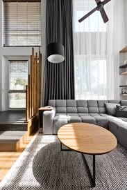 scandinavian loft apartment interior design with perfect floor