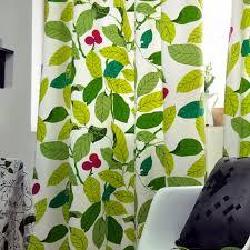 Leaf Pattern Curtains Decorations Popular Green Leaf Patterned Curtains Design Ideas