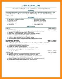 Diesel Technician Resume Mechanic Resume Lukex Co