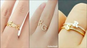 name ring name ring custom initial ring gold initial ring designs