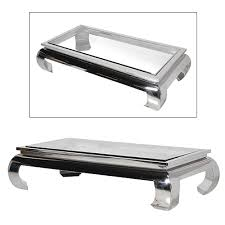 large glass coffee table terano large rectangular polished chrome glass coffee table f d
