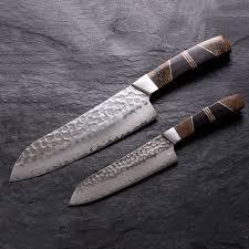 santoku kitchen knife mammoth bone wood 5