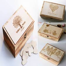 Keepsake Box Personalized Alternative Wedding Guest Book Custom Wedding Box Personalized