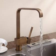 Single Handle Antique Brass Kitchen Sink Faucet - Brass kitchen sinks