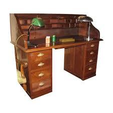 bureau americain bureau americain en chêne avec 8 tiroirs epoque vers 1900