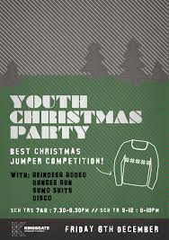 youth christmas party flyer alice hampson design