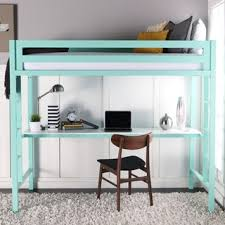 twin metal loft bed with desk and shelving twin metal loft bed with workstation mint green lofts twins