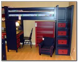 loft bunk beds with desk and stairs kids loft bed with stairs beds