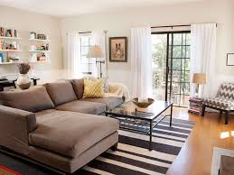 Striped Sofas Living Room Furniture Living Room Small Living Room Design With L Shape Brown